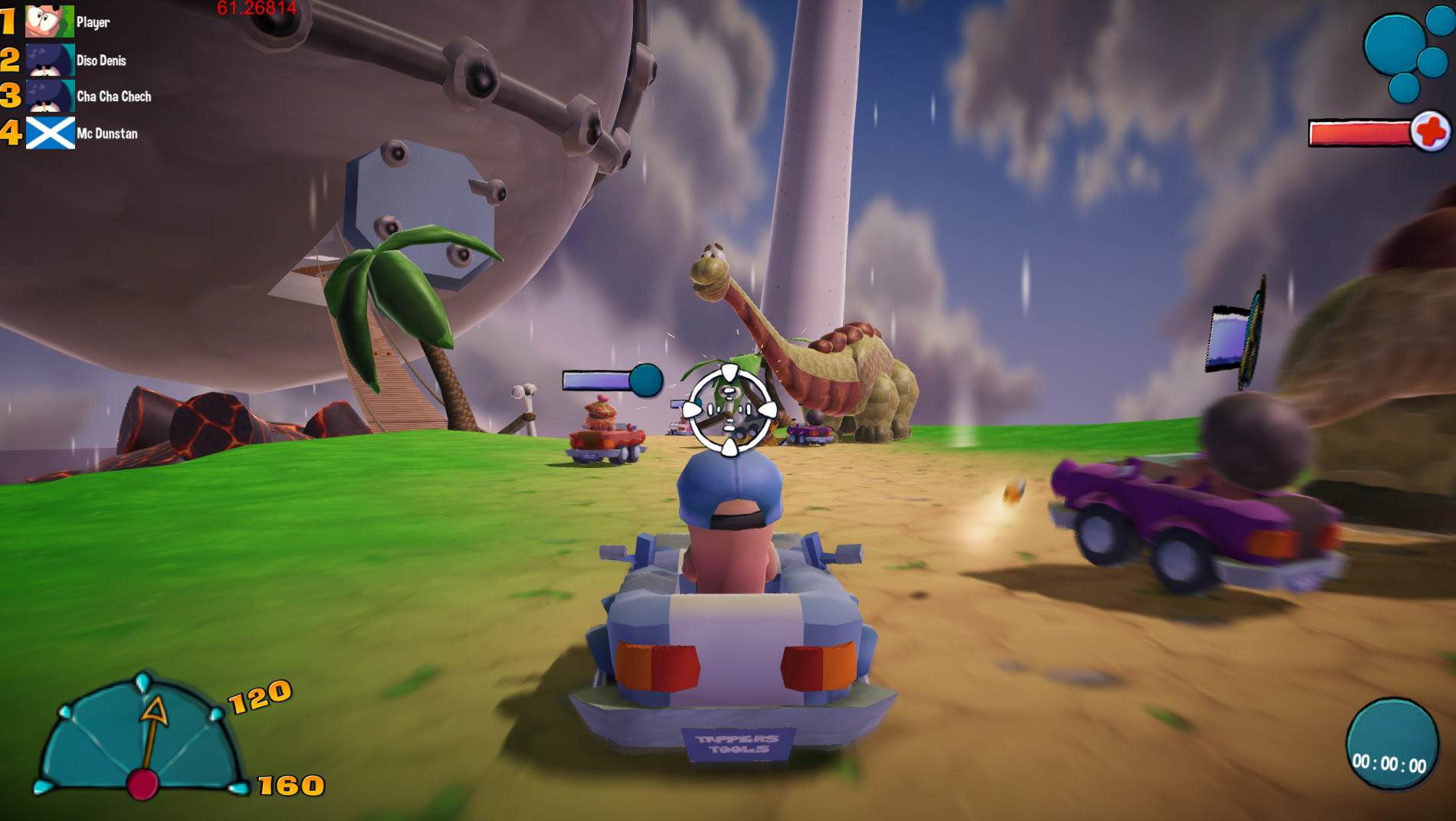 Worms 4 Racing : Mario Kart Game Like based on Worms 4 Mayhem content